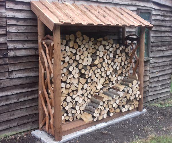 Rustic Log Store