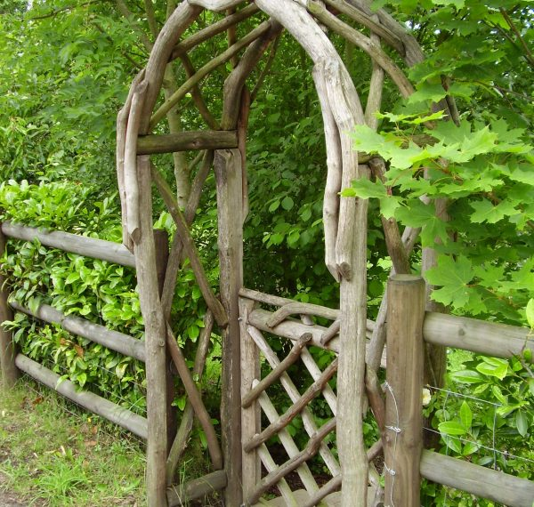 Rustic Garden Arch and Gate