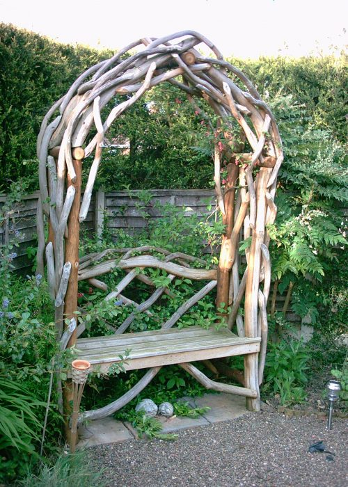Rustic Arch with Seat
