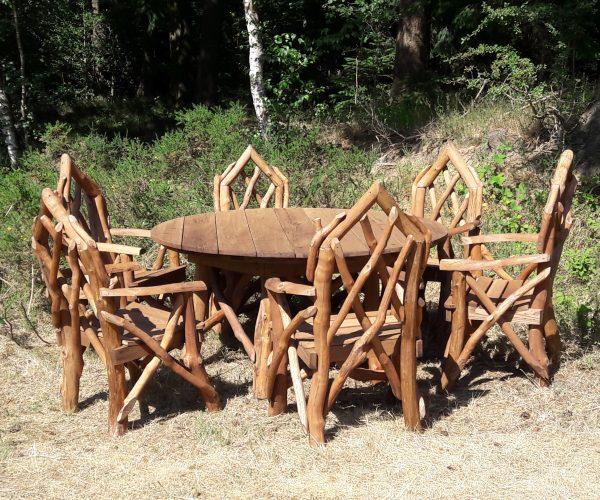 Rustic Oak Garden Dining Set