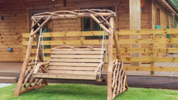 Rustic Garden Swing Seat