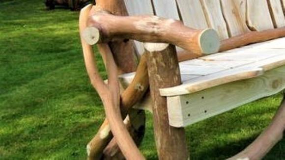 Rustic Garden Bench Detail