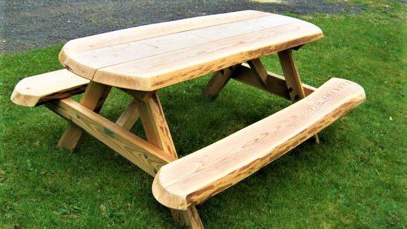 Rustic Picnic Bench