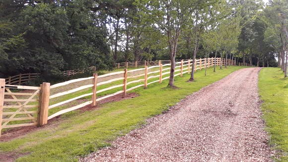 Cleft Post and Rail