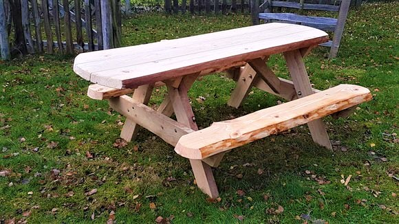 Rustic Accessible Picnic Bench