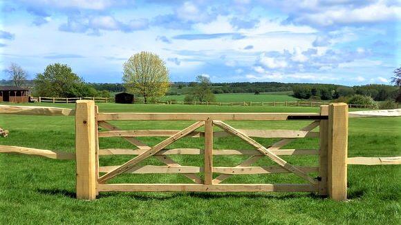 10' Oak Five Bar Gate