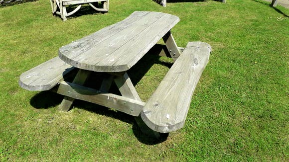 Weathered Picnic Bench